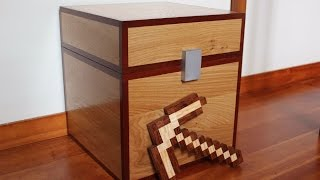 Minecraft Pickaxe - Real Wood; How to Build Minecraft Toys to kids