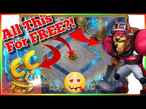 FREE ANUBIS + Skin + Cosmic Temple Background + Decoration And Many More Castle Clash Gifts