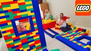 Building A Giant Lego Fort And Family Game Night With Peeing Puppy!!