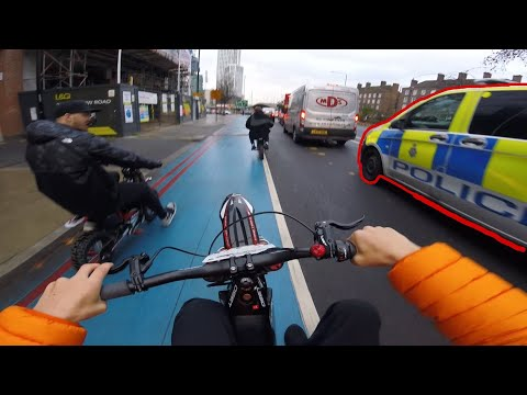 ELECTRIC DIRTBIKE WHEELIES THROUGH LONDON!!