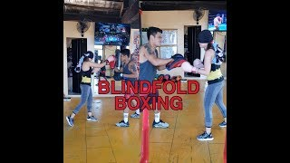 #blindfoldboxing #boxing BLINDFOLD BOXING with coach jon and coach bj