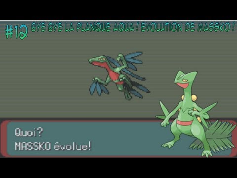 Let 39 s play episode 12 pok mon emeraude bye bye la planque aqua evolution de massko - Pokemon version rubis evolution ...