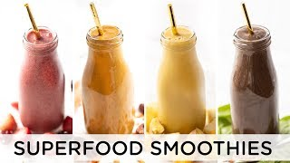 SUPERFOOD SMOOTHIES | 4 Easy Recipes for Fall