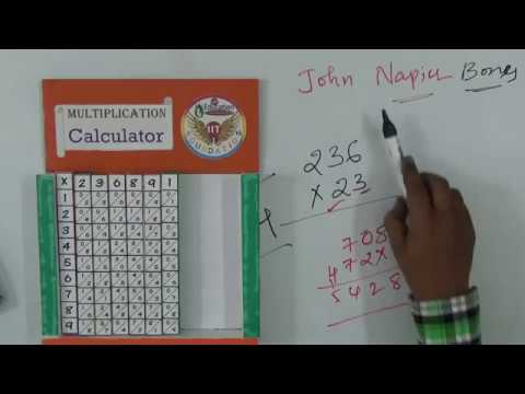 Multiplication Calculator || Napier's bones || Maths Project ||