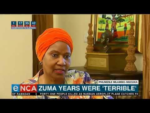 Zuma years were 'terrible'
