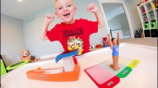 Father & Son PLAY FANTASTIC GYMNASTICS 2! / Vault Challenge Time!