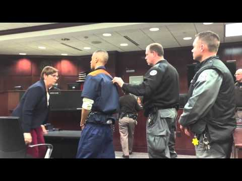 Watch as accused murderer yells at witness, victim's family during prelim