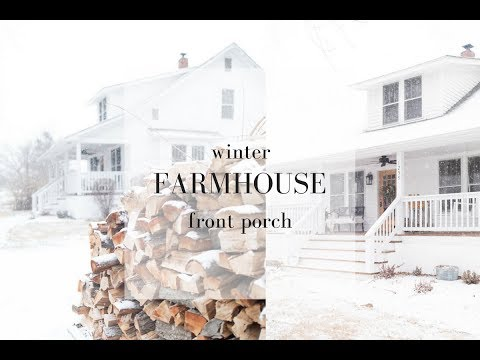 Farmhouse Front Porch Winter Decorating Ideas