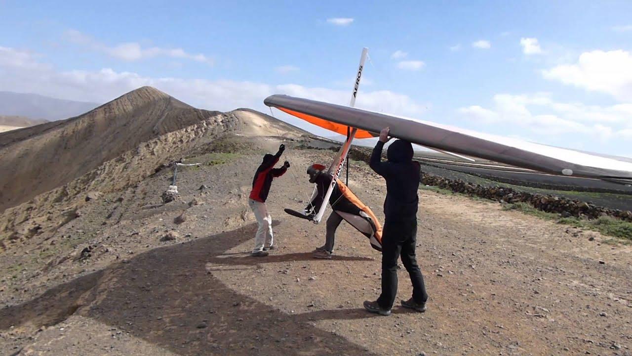 Lanzarote Hang Gliding 2015 Takeoffs and Landings