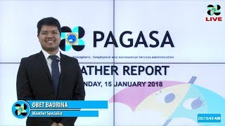 Public Weather Forecast Issued at 4:00 AM January 15, 2018