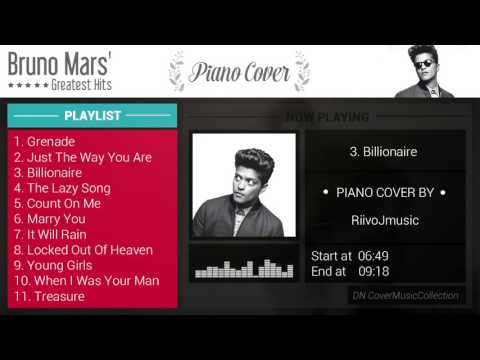 Bruno Mars' Greatest Hits - Piano Cover [Video by Datnguyen]