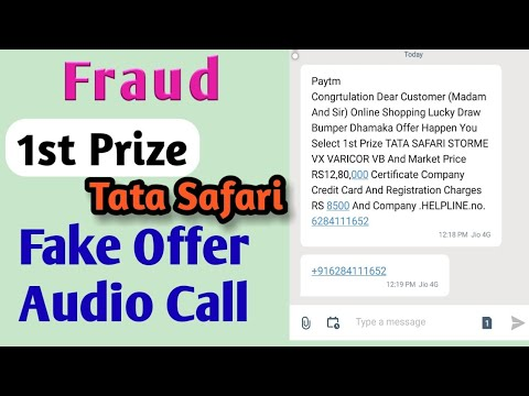 Fraud call || fake offer || online shopping lucky draw