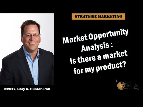 Market Opportunity Analysis: Is there a market for my product?