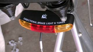 Bike headlight taillight brake light 8 tune horn combo review