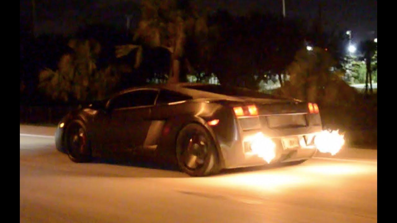 Brushed Metal Lamborghini Gallardo Flame Thrower   YouTube