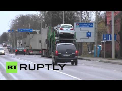 Lithuania: Hundreds of trucks queue at Russian border after road tax imposed