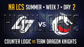 CLG vs TDK HIGHLIGHTS | Week 7 Day 2 NA LCS Summer Split 2015 S5 | CLG vs Team Dragon Knights W7D2