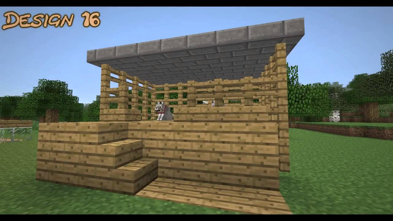 20 Wolf Dog House Kennel Ideas And Designs Minecraft