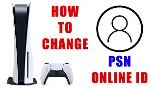 How to Change PŠN Account Online User ID on PS5 [ Change Playstation 5 Username Tutorial ]