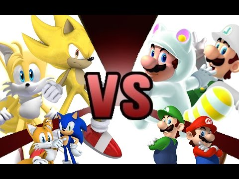 Thumbnail: MARIO and LUIGI vs SONIC and TAILS REMATCH!!! Cartoon Fight Club Episode 5