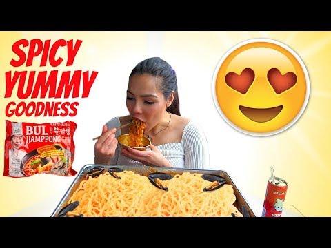 Spicy Seafood Recipe & Noodles Bul Jjamppong 짬뽕 Mukbang 먹방 350k giveaway!