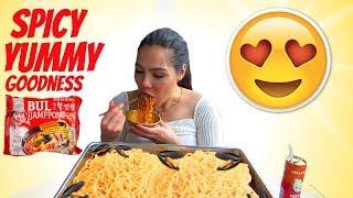 Spicy Seafood Recipe  Noodles Bul Jjamppong  Mukbang  350k giveaway
