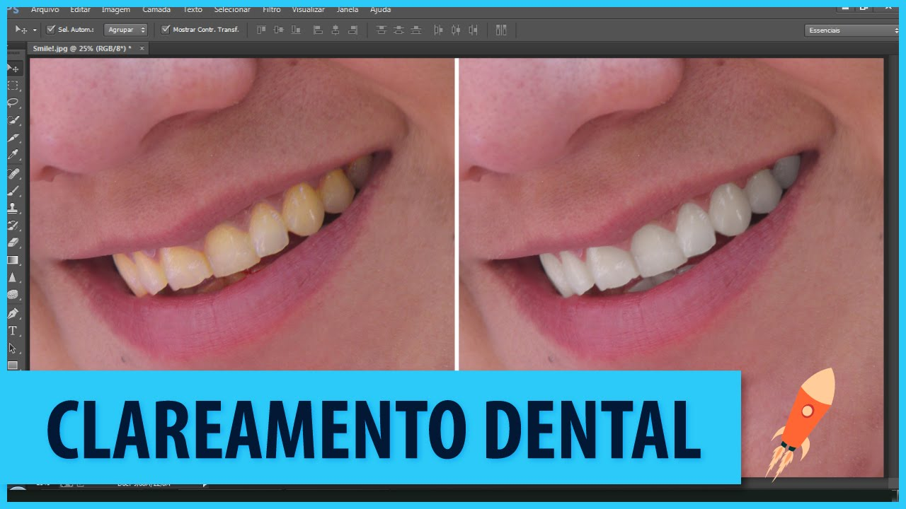 Como Clarear Os Dentes Photoshop Cc Youtube