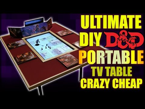 Cheap DIY Gaming TV Table THAT'S PORTABLE!