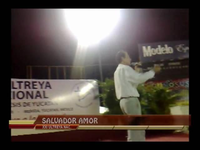 Salvador Amor presentandose en la XXI Ultreya nacional en Merida Yucatán