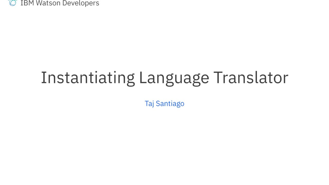 Watson Unity SDK: Instantiating Language Translator