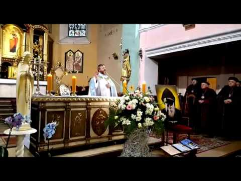 CHARBEL TV - Częstochowa peregrynacja relikwii świętego ojca Pio 22.10.2016