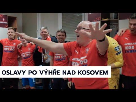 A tým | Oslavy v kabině po výhře nad Kosovem