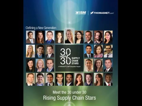 Institute for Supply Management® (ISM®) and THOMASNET 30 under 30 Supply Chain Stars