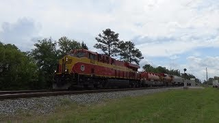 Florida East Coast Railway: FEC 210 arrives at Bowden Yard Jacksonville, FL