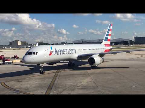 American Airlines 757-200 Trip Report Miami to Dallas (Full Flight)