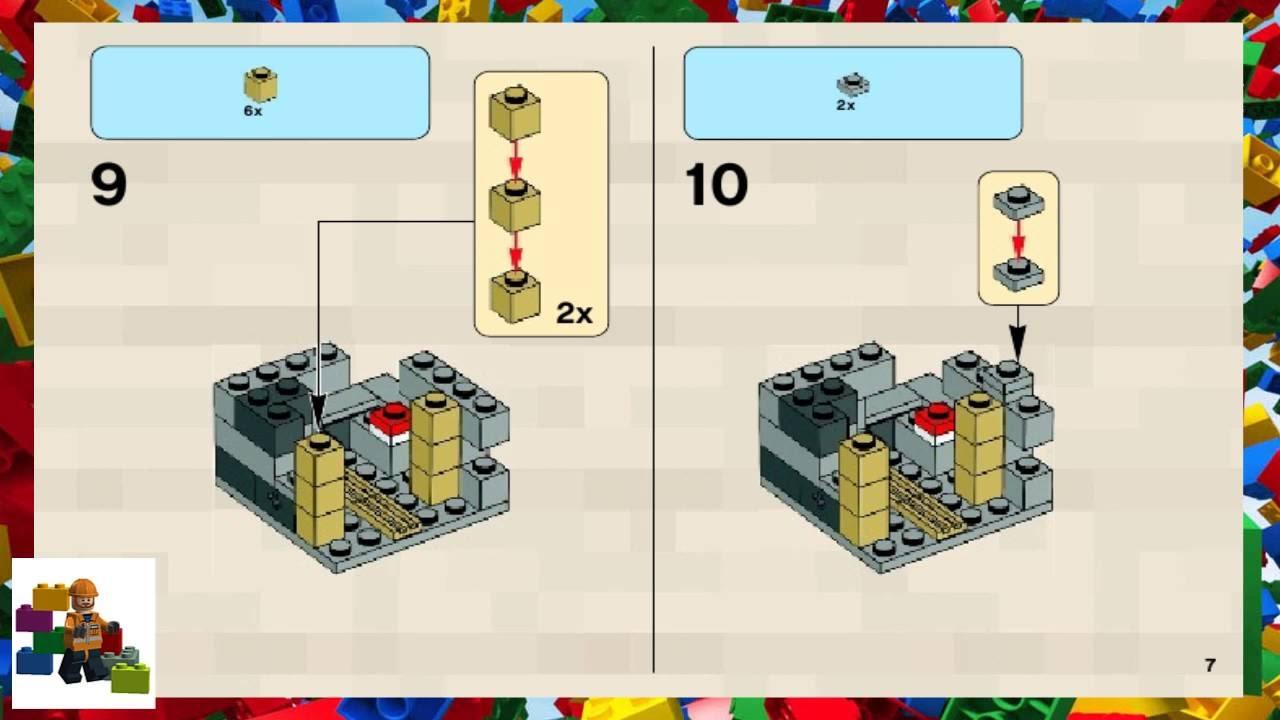 Lego Instructions Minecraft 21105 Micro World The Village
