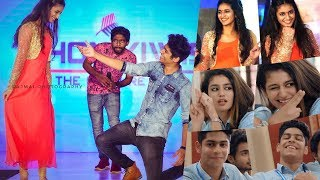 Priya Varrier & Roshan Dance Live At Kochi , Oru Adaar Love Actress And Crew Live