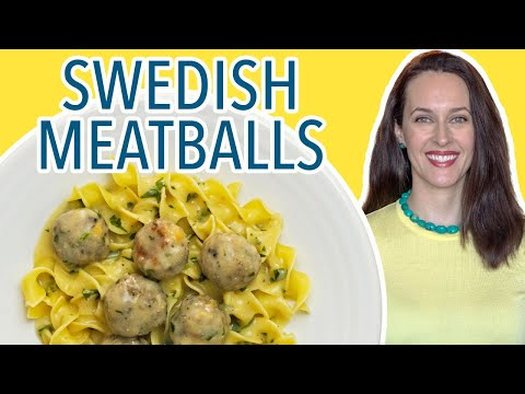 "Vegetarian Swedish Meatballs Recipe Demo – How to Make Vegetarian ""Meatballs"""