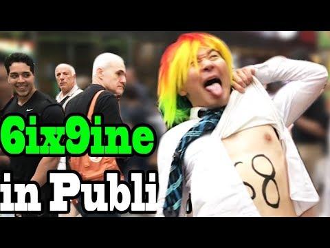 """6IX9INE (Tekashi69) - """"Gummo"""" - SINGING IN PUBLIC!!"""