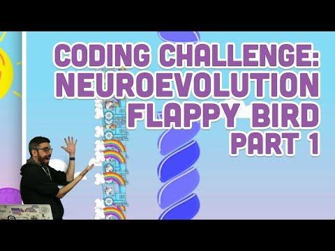 Coding Challenge #100.1: Neuroevolution Flappy Bird - Part 1