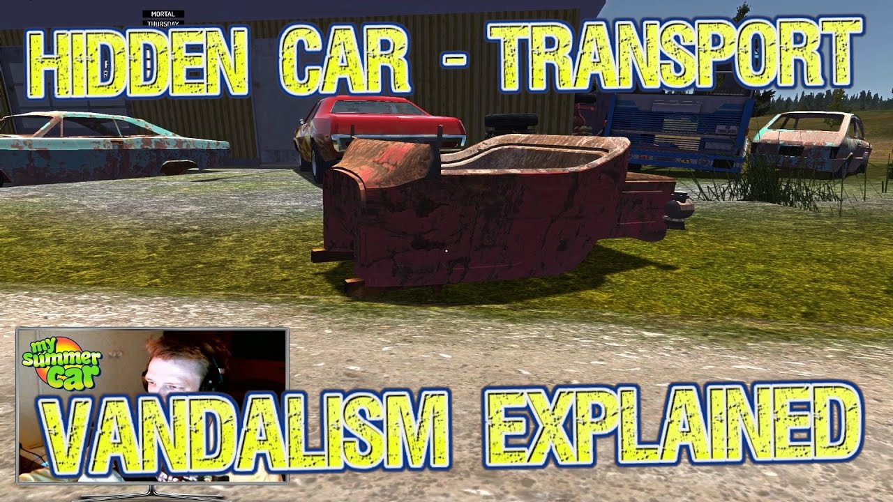 MY SUMMER CAR - FINDING HIDDEN JUNK CAR (VANDALISM EXPLAINED ...