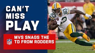 Rodgers Puts It Where Only MVS Can Get It