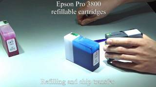 Epson Pro 3800 chip installation