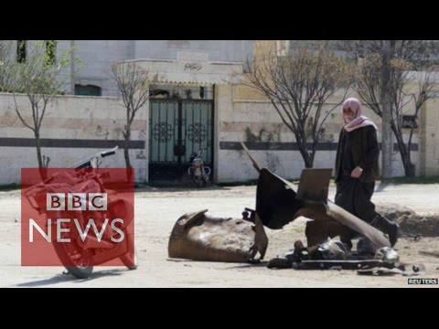 Syria war: 'Chlorine' attack video moves UN to tears - BBC News