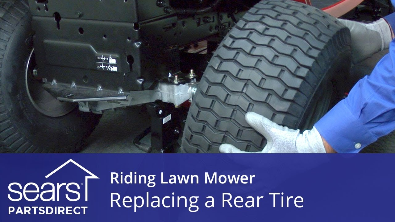 Replacing a Rear Tire on a Riding Lawn Mower