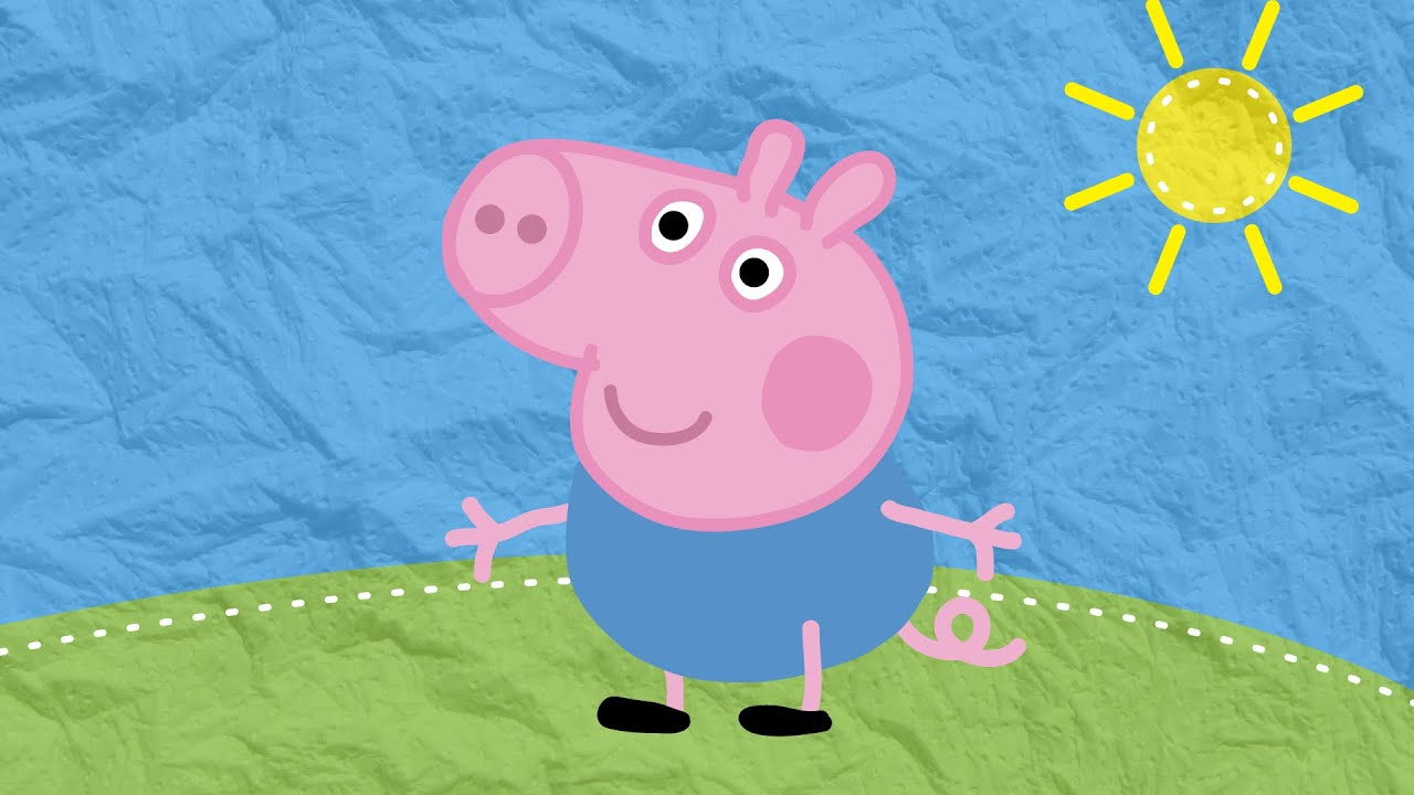 Рисуем вместе: Джордж из мультика Свинка Пеппа ...