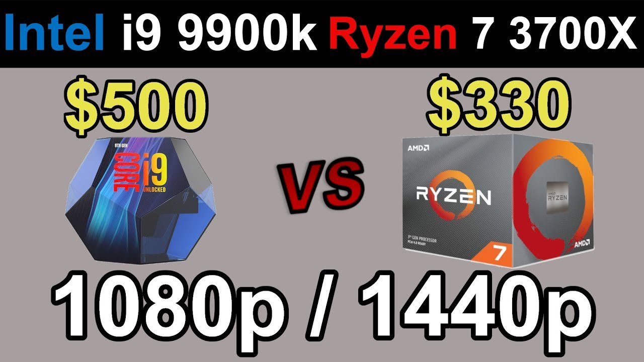 i9-9900k vs. RYZEN 7 3700X | 1080p and 1440p | 15 Games