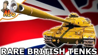 RARE BRITISH TENKS IN FRONTLINE!