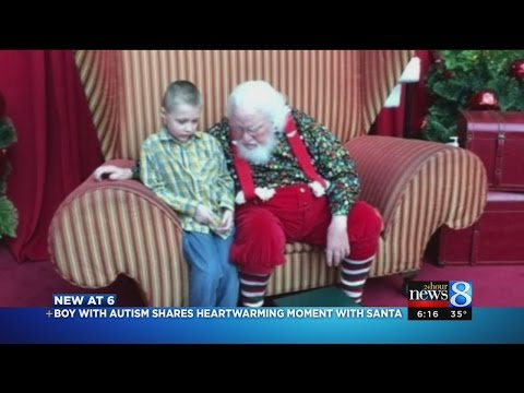 Landon's magical moment with Santa: 'I have autism'