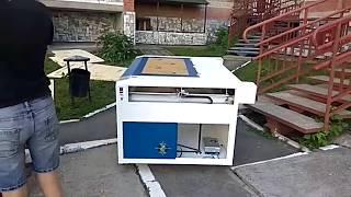 Процес доставки лазерного станка разборка в двери 80 см и установка(, 2017-06-21T15:27:31.000Z)